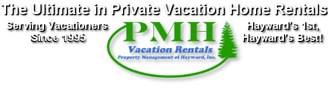 Private Hayward Vacation Home Search on Lakes